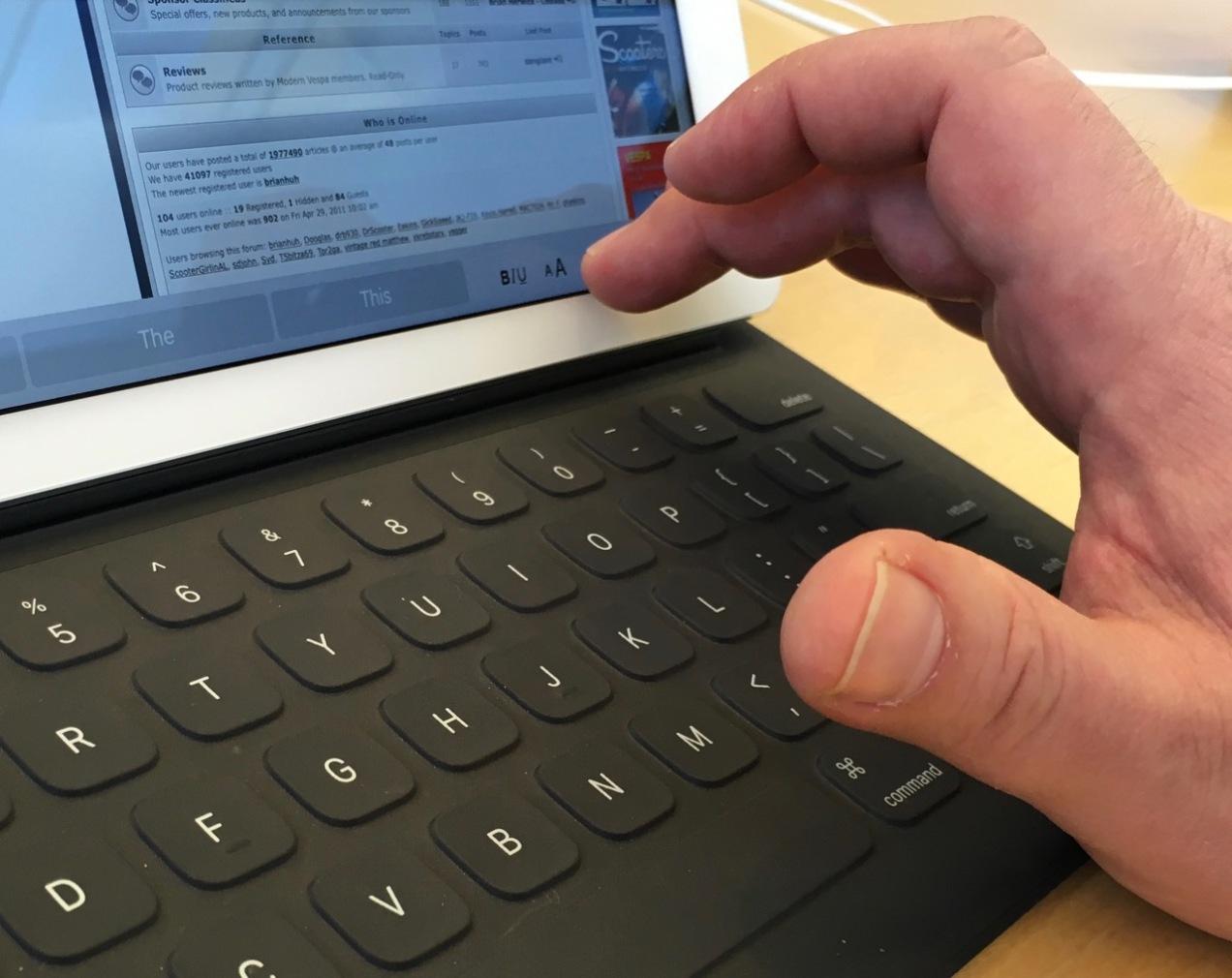 IMG_2133 iPad Pro Finger Reach Angled